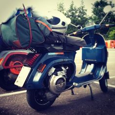 Vespa PK. Ready for rallies!