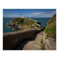 South Stack Light House Wales Poster - light gifts template style unique special diy