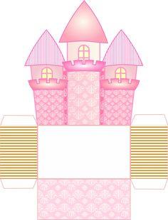 Caixa castelo para doces ou centro de mesa