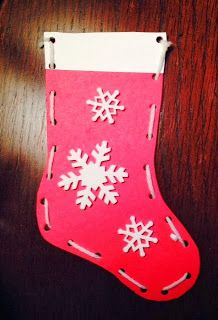 Appleshoe: Card Lacing Stocking for Saint Nicholas Day craft.
