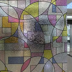 Modern Fancy Abstract Frosted Geometric Window Film – CAD $ 55.59