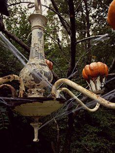 outdoor pumpkin chandelier