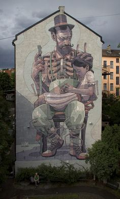 Aryz's newest contribution to public space is a massive mural in Oslo, Norway for the Oslo Triennial of Mural Art.