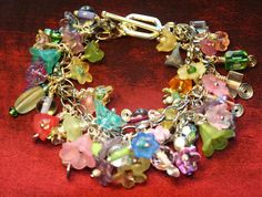 """Fabulous Garden Cha-Cha Bracelet OOAK One-of-a-Kind -- Come Linger """"In the Garden"""""""