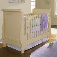 Mix & Match Stationary Sleigh Crib in Shell @PoshTots