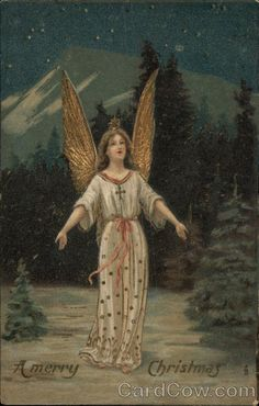 A Merry Christmas with Angel in Gold Angels