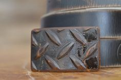 Tread Plate Belt Buckle by Fosterweld by FosterWeld on Etsy