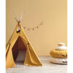 Boys Teepee, Kids Tents, Childrens Teepee, Yellow Kids Rooms, Yellow Nursery, Yellow Playroom, Nevada, Mustard Yellow Curtains, Yellow Interior