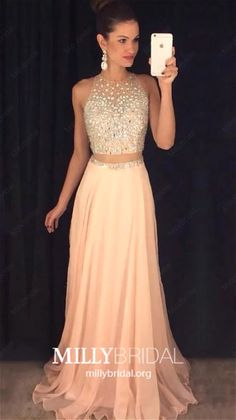 Two Piece Prom Dresses, Aline Prom Dress, Beaded Evening Gowns, Pink Party Dresses, Chiffon Formal Dresses You are in the right place about Prom Dress ombre Here we offer you the most beautiful pictur