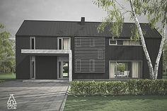 Modern Style House Plan - 3 Beds 2.5 Baths 1752 Sq/Ft Plan #552-3 Exterior…
