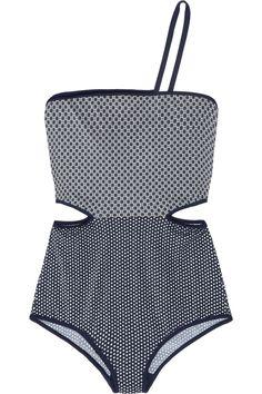 //cutout printed swimsuit | stella mccartney