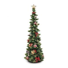 Hand Painted Poly Resin Christmas Tree Decoration -- Check this awesome product by going to the link at the image. (This is an affiliate link)