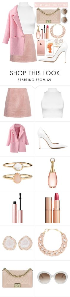 """""""Scream Queens"""" by opheline1610 ❤ liked on Polyvore featuring Acne Studios, WearAll, Gianvito Rossi, Accessorize, Christian Dior, Too Faced Cosmetics, Charlotte Tilbury, Kimberly McDonald, DIANA BROUSSARD and Chanel"""