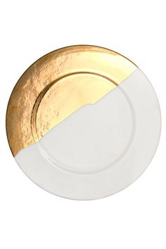KELLY WEARSTLER | DOHENY CHARGER PLATE. Fine china with 22k gold.