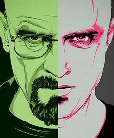 Breaking Bad Illustrations by CranioDsgn - Walt/Jesse