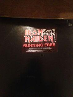 """Iron Maiden Running Free 12"""" Promo"""