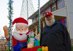Johnstown resident Harold Keller said he received a Santa-and-reindeer decoration as a birthday present more than 15 years ago.