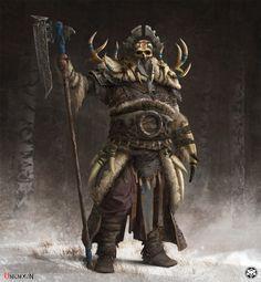 Warlord, Max Hugo on ArtStation at https://www.artstation.com/artwork/DWDAo