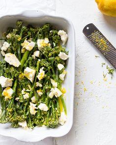 Sitruunabroccoliinit, mikä näpsäkkä lisuke - Jotain maukasta