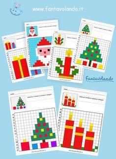 Rudolph Christmas, Christmas Math, Christmas Activities For Kids, Christmas Colors, Christmas Decorations, Origami Christmas Tree, Lego Activities, Beaded Crafts, Pixel Art