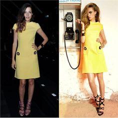 wearing Dsquared2 yellow dress #eleonoracarisi