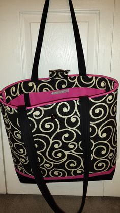 Black Swirl Tote bag by TeresaScholleDesigns on Etsy