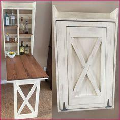 Drop down murphy bar - DIY Projects (Diy Storage For Small Spaces) Home Diy, Furniture Diy, Wood Diy, Murphy Table, Bar Diy Projects, Diy Table, Sewing Table, Diy Furniture, Diy Storage