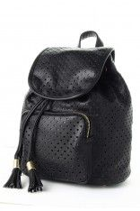Starry Cut Out Black Backpack