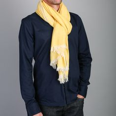 144f2ed6d4b4c Beshlie - men's herringbone cashmere scarf #scarf #cashmere #men's #AW17 Cashmere  Scarf
