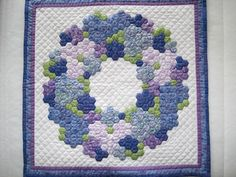 Hexagon wreath quilt package, Marries Atelier