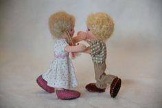 Custom order: Bendy dollhouse doll Waldorf style by ElineDolls