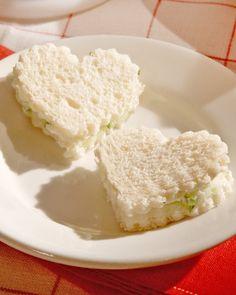Mini Turkey, Cucumber and Cream Cheese Sandwiches:  Martha Stewart