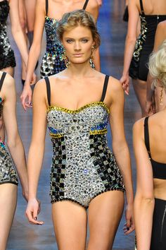 ~ Constance Jablonski for Dolce and Gabbana, Spring/Summer 2012.