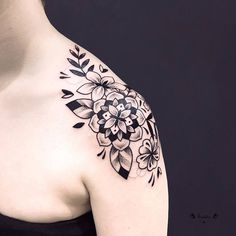 Floral Mandala Tattoo by violette_bleunoir