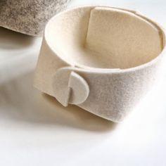 #nordicdesigncollective Circle - white Felt basket - HOME & DECOR