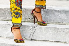 #Heels, #Shoes, #Colorful, #Ethnic, #Sequins