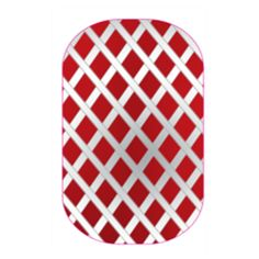 Red Silver Fishnet | Jamberry