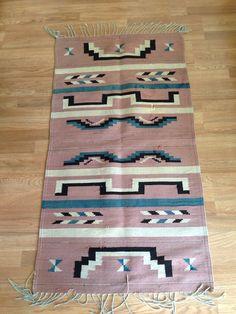 Vintage Chimayo Navajo Rug Wall Hanging by lovewildevintage, $289.00