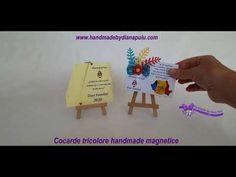 Cocarde tricolore handmade magnetice marca Handmade by Diana Puiu Diana, Handmade, Hand Made, Handarbeit