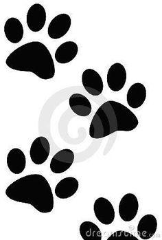 Dibujo de huellas de perro.