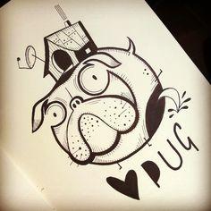 #stefanoarici #scarabiss #pug #carlino #tatt #tatts #tattoo #tatouage #tatuagem #tatuaje #ink #inked #inkedup #pissing #flash #flashtattoo #flashworkers #flashaddict #sketch #sketchbook #illustration #dessin #dibujo #graphic #graphique #graphisme