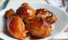 Muslos de pollo asados a la naranja