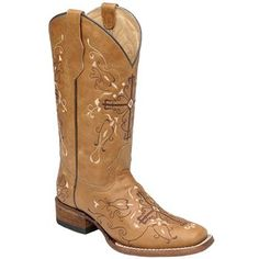 Circle G Women's Cross Embroidered Western Boots