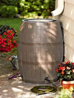 75 Gallon, 4 port, Deluxe Rain Catcher- Rain Barrel   Buy from Gardener's Supply
