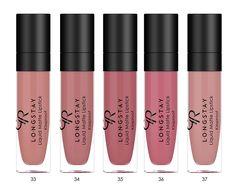 New colours from Longstay liquid matte lipstick Golden Rose Lipstick, Golden Rose Cosmetics, Matte Lipstick, Liquid Lipstick, Beauty Makeup, Eye Makeup, Best Drugstore Makeup, Lip Cream, Lip Colors