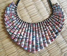 Laser cut paper necklace