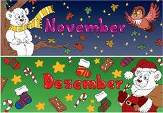 Zaubereinmaleins - DesignBlog Kindergarten, Four Seasons, Routine, Weather, Comics, Cards, Learning, Organization, First Grade Lessons