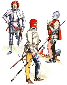 • Italian knight, c. 1425  • Italian light infantryman, first half 15th century  • Artilleryman, early 15th century