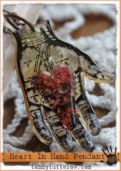 Tammy Tutterow: Heart In Hand Pendant
