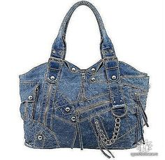 Recycled denim jeans purse